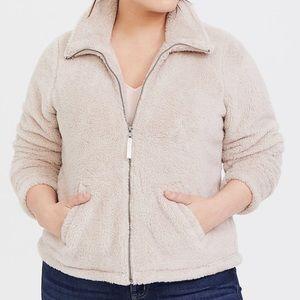 Tan Faux Sherpa Teddy Jacket